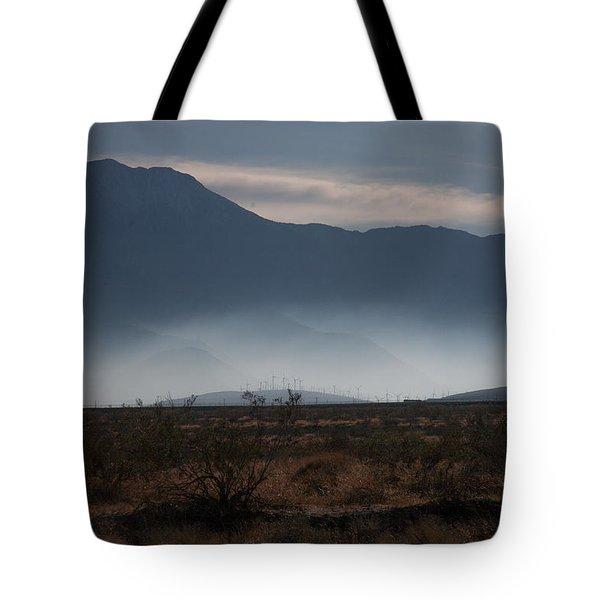 Palm Springs Windmills Tote Bag