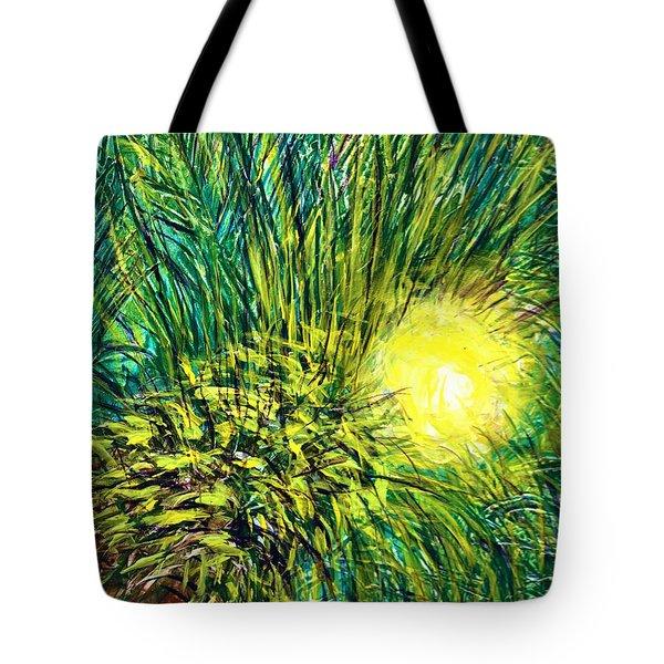 Palm Sunburst  Tote Bag