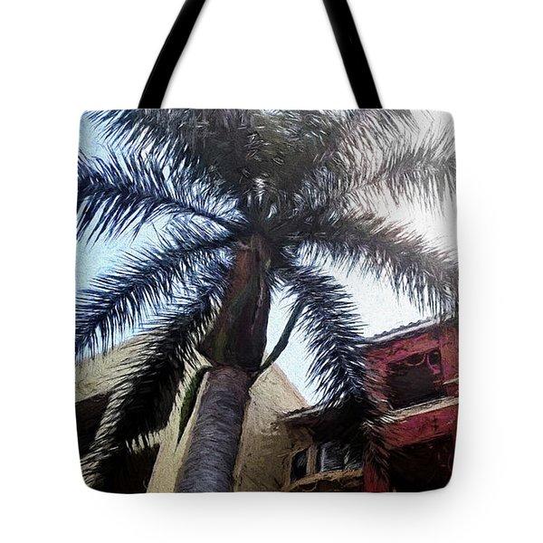 Palm Tree Art Tote Bag