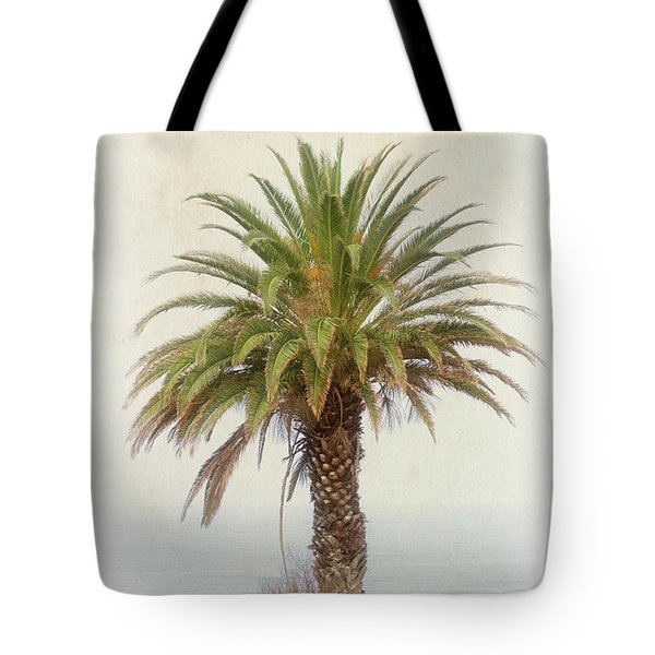 Palm Tree In Coastal California In A Retro Style Tote Bag
