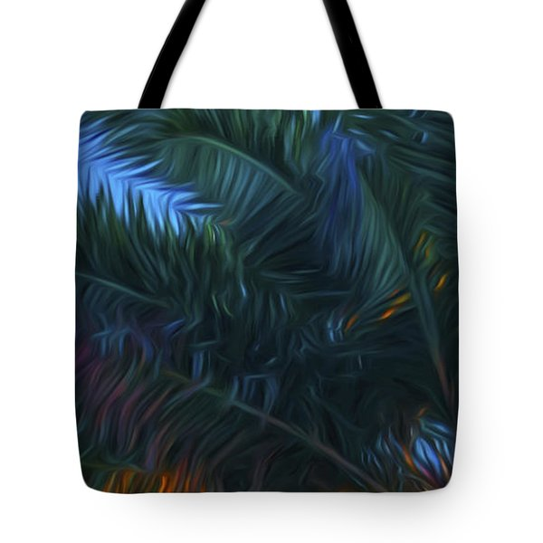 Palm Tree In The Sun Tote Bag