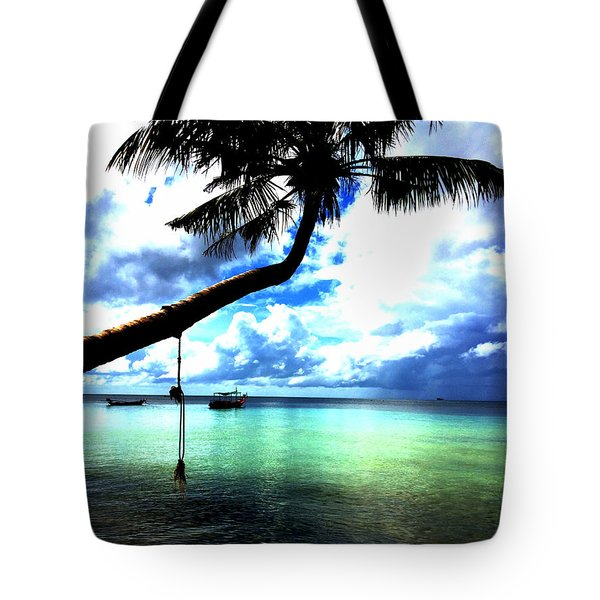 Palm Tree  Tote Bag by Julita Pietrzyk