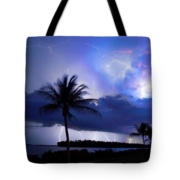 Palm Tree Nights Tote Bag