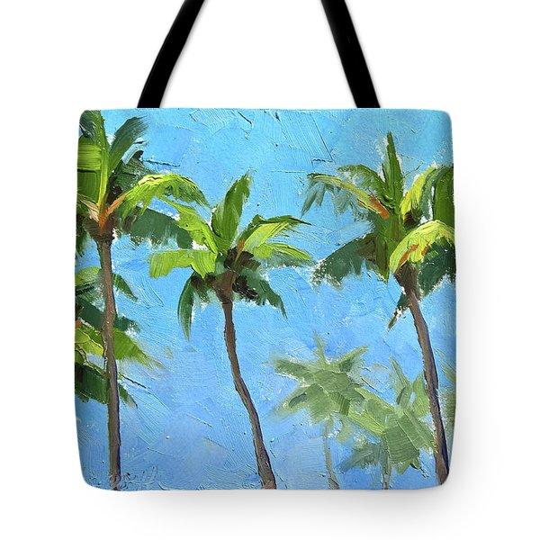 Palm Tree Plein Air Painting Tote Bag