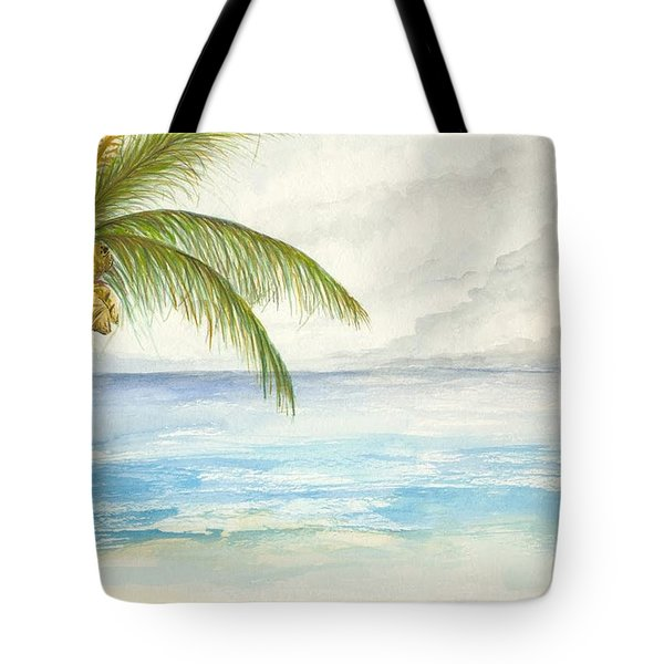 Tote Bag featuring the digital art Palm Tree Study by Darren Cannell