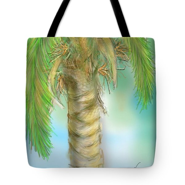 Tote Bag featuring the digital art Palm Tree Study Two by Darren Cannell