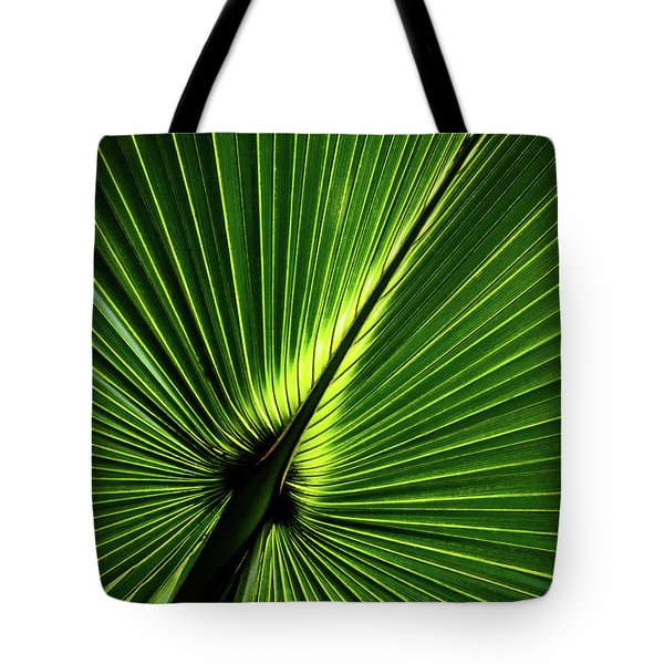Palm Tree With Back-light Tote Bag