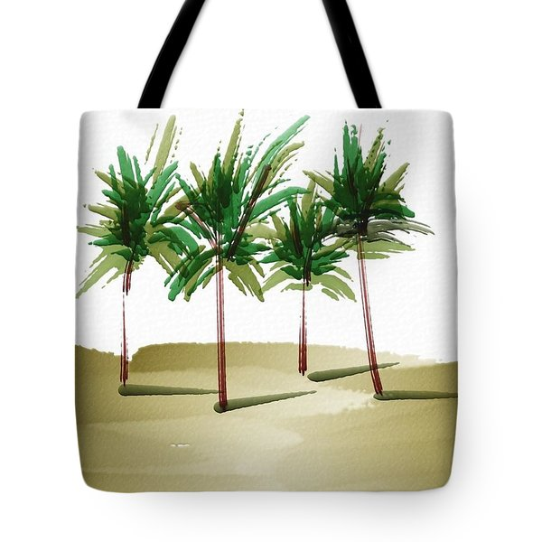 Palm Trees 2 Tote Bag by Frank Bright