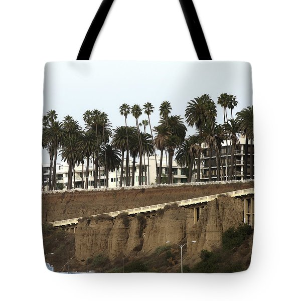 Palm Trees And Apartments Tote Bag