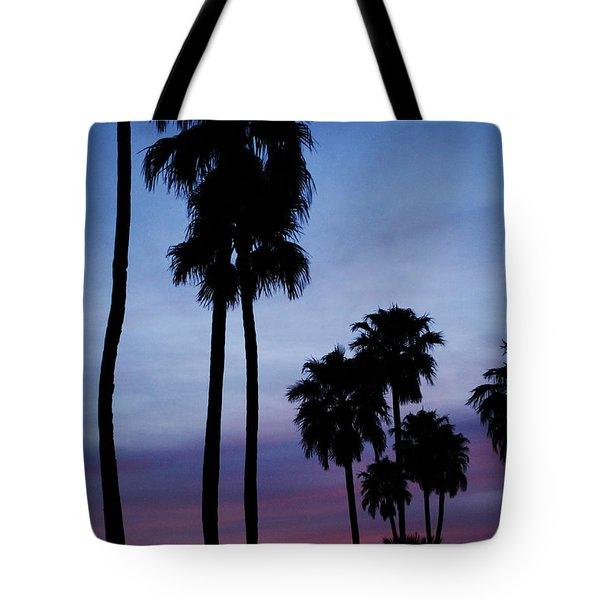 Palm Trees At Sunset Tote Bag by Jill Reger