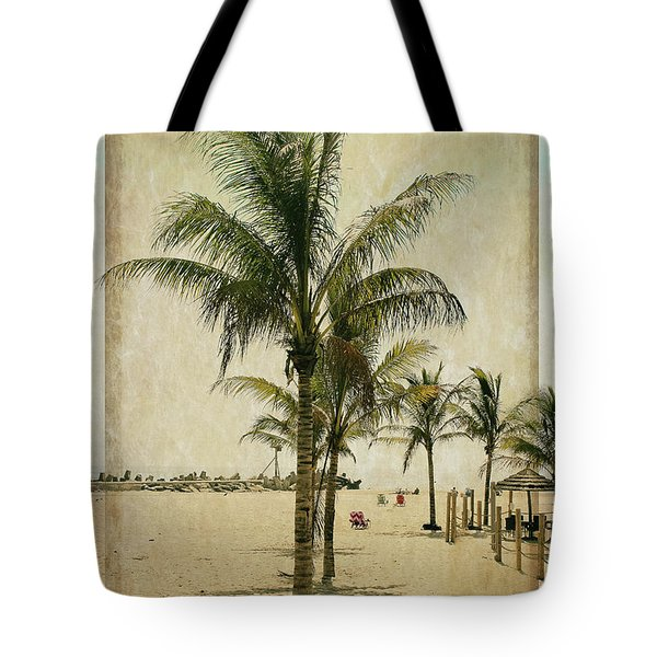 Palm Trees At The Point Tote Bag
