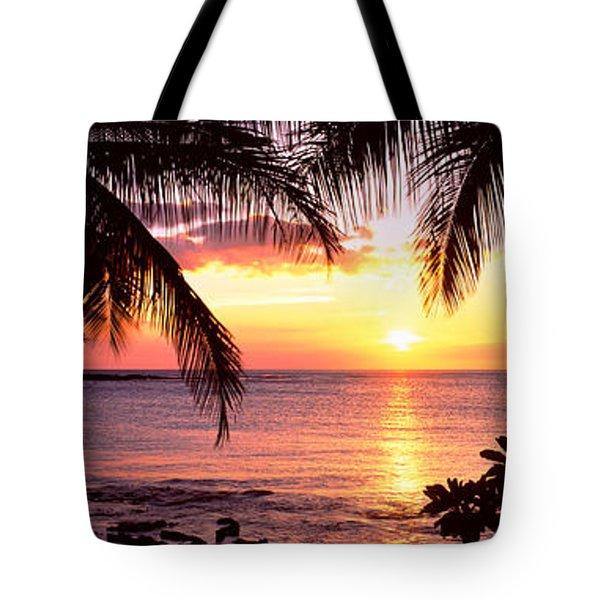 Palm Trees On The Coast, Kohala Coast Tote Bag