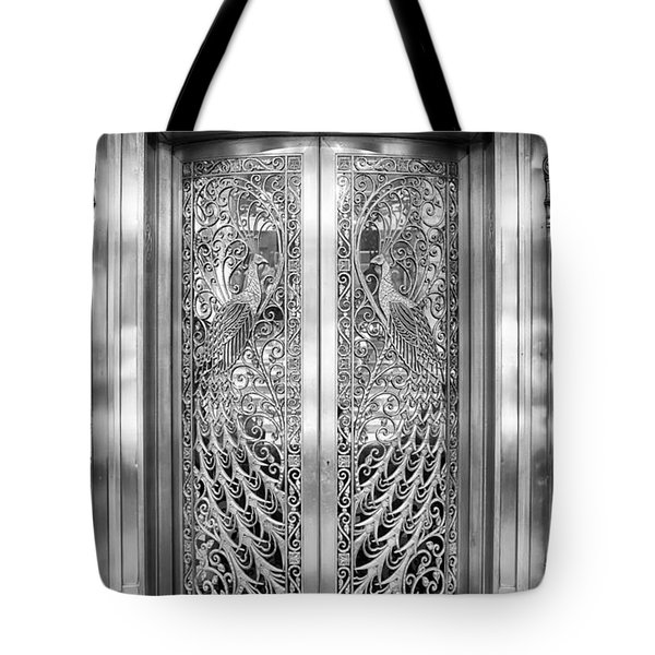 Palmer Hotels Peacock Door Tote Bag by Howard Salmon