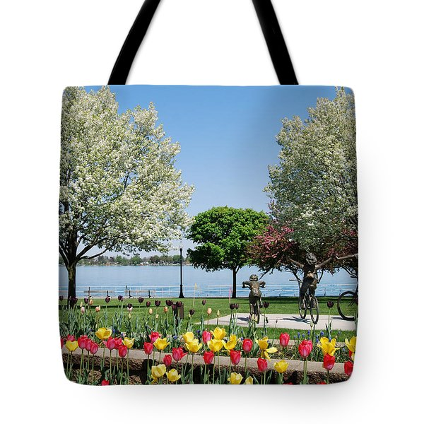 Palmer Park In Spring Tote Bag
