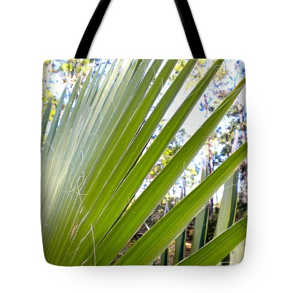 Tote Bag featuring the painting Palmetto 1 by Renate Nadi Wesley