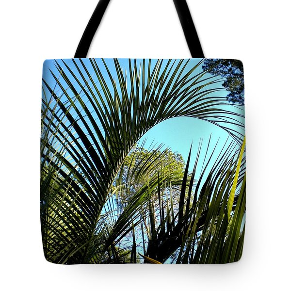Tote Bag featuring the painting Palmetto 2 by Renate Nadi Wesley