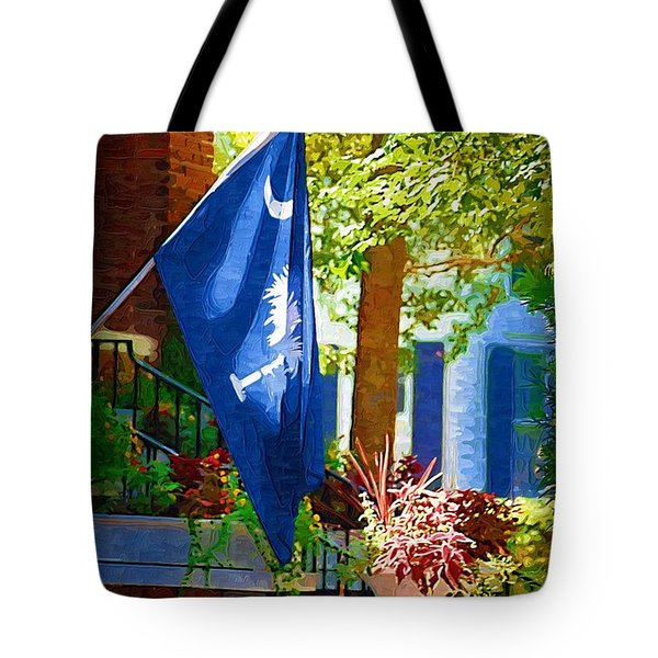 Palmetto Flag Tote Bag by Donna Bentley