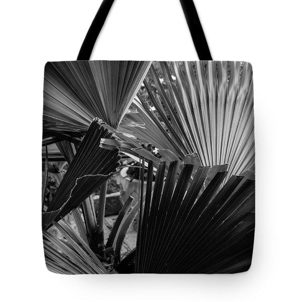 Palmetto In Black And White Tote Bag