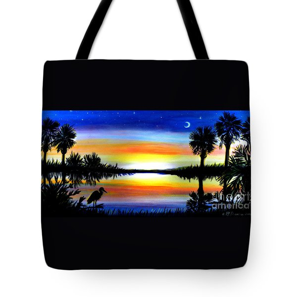 Palmetto Moon Low Country Sunset II Tote Bag