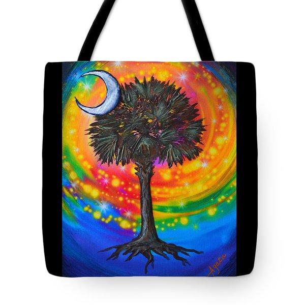 Palmetto Tree Of Life Tote Bag