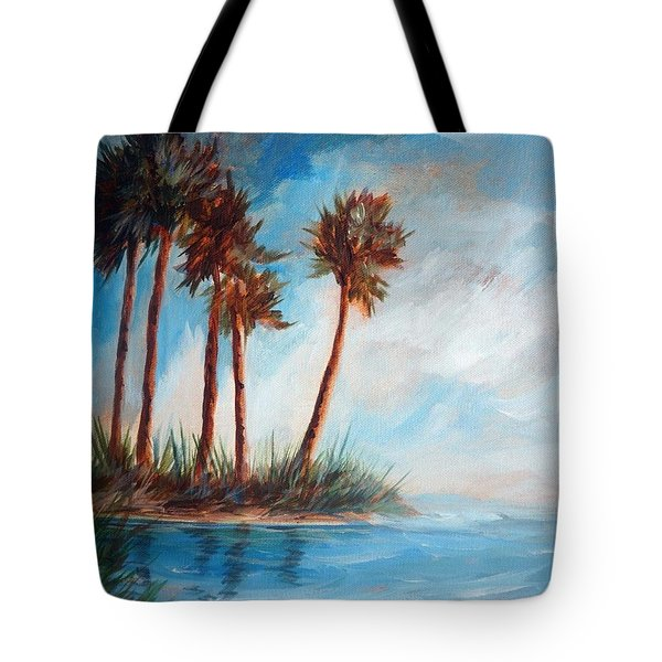 Palmettos On A Beach Tote Bag
