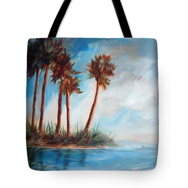 Palmettos On A Beach Tote Bag