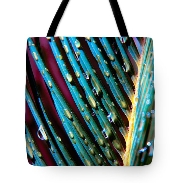 Palms After A Rainy Day Tote Bag by Mariola Bitner