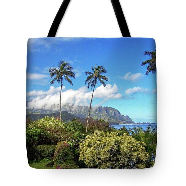 Palms At Hanalei Tote Bag