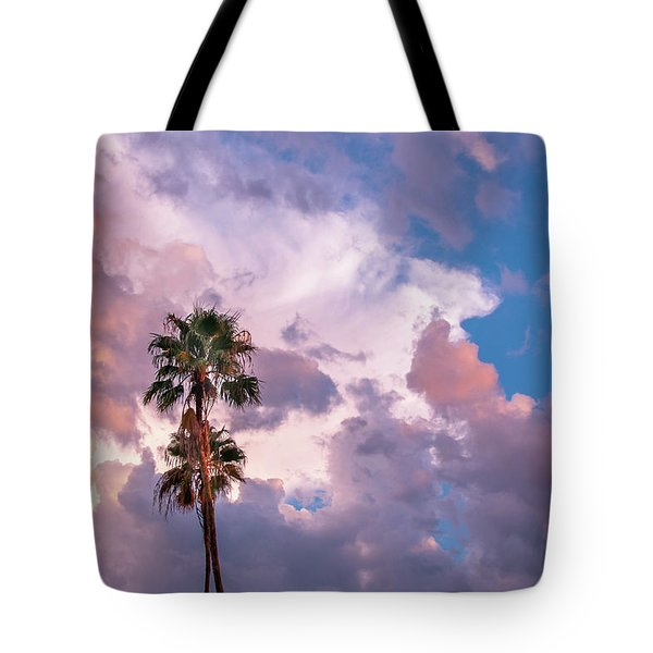Palms At Sunset Tote Bag by Carolyn Dalessandro