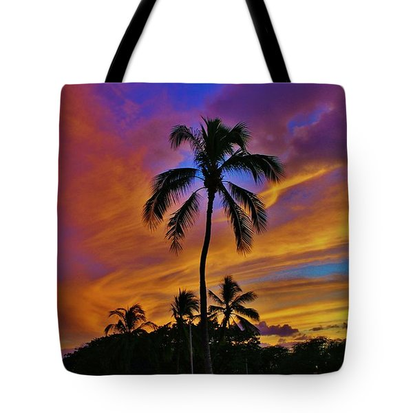 Tote Bag featuring the photograph Palms At Sunset by Craig Wood