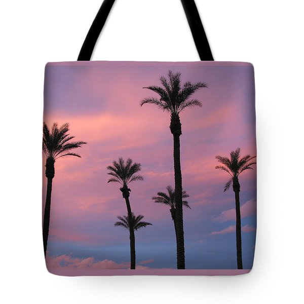 Tote Bag featuring the photograph Palms At Sunset by Phyllis Kaltenbach