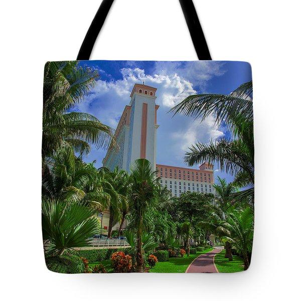 Palms At The Riu Cancun Tote Bag