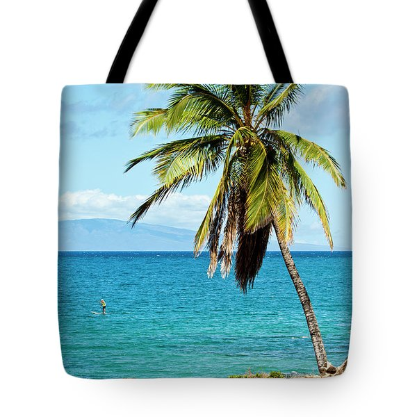 Tote Bag featuring the photograph Palms On Hawaiian Beach 12 by Micah May