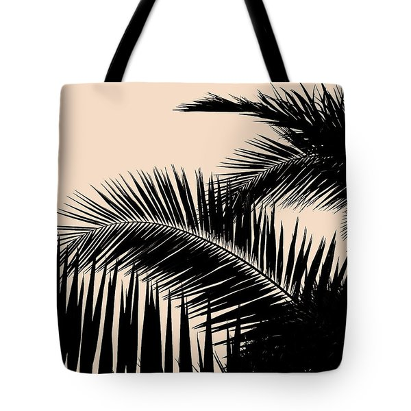 Palms On Pale Pink Tote Bag