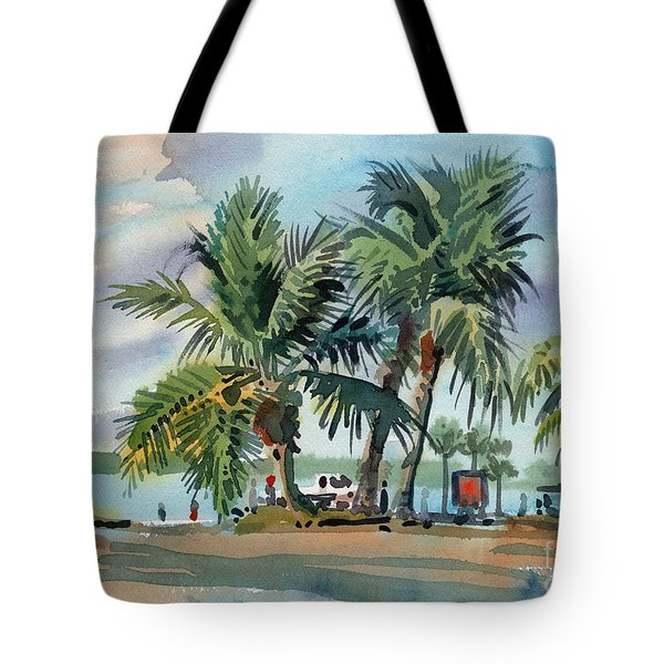 Palms On Sanibel Tote Bag by Donald Maier