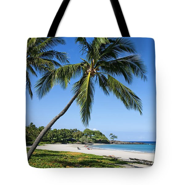 Palms Over Beach II Tote Bag by Ron Dahlquist - Printscapes