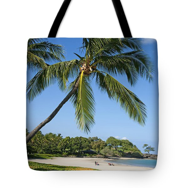 Palms Over Beach Tote Bag by Ron Dahlquist - Printscapes