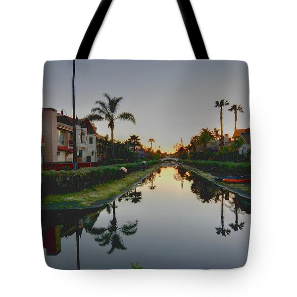 Palms Reflected Tote Bag