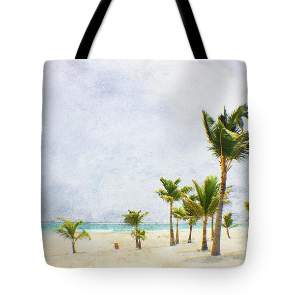 Palmtrees In Punt Cana Tote Bag