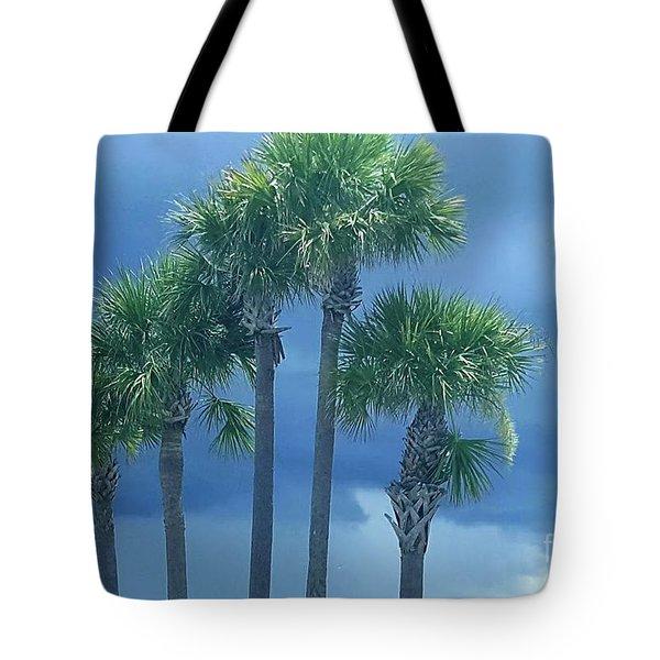 Palmy Skies Tote Bag by Rachel Hannah