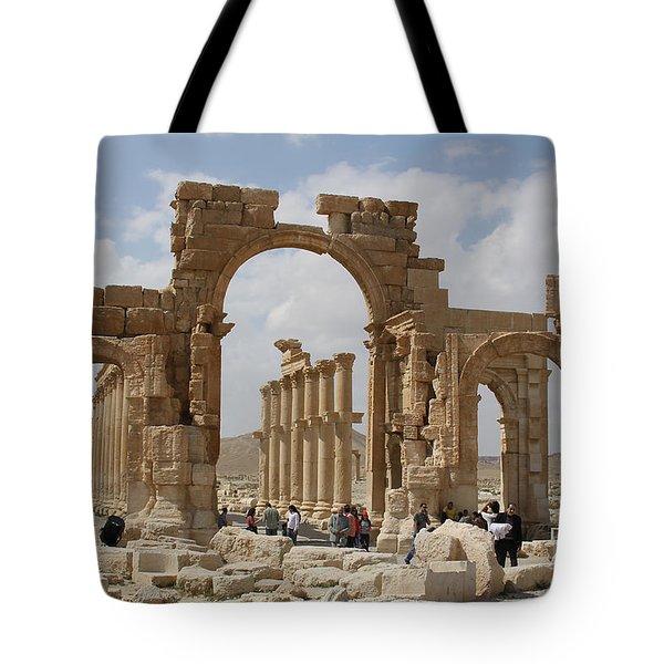 Palmyra Before...triumphal Arch Tote Bag