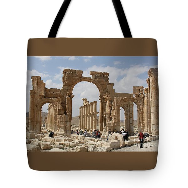 Palmyra Before...triumphal Arch Tote Bag