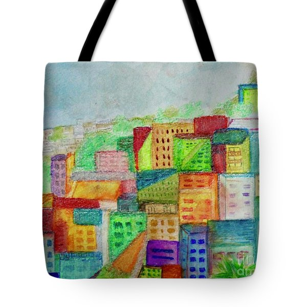 Tote Bag featuring the painting Palmyra by Kim Nelson