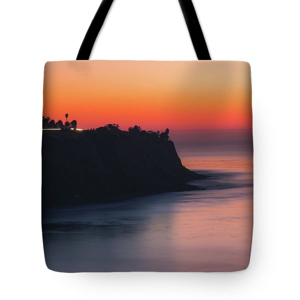 Tote Bag featuring the photograph Palos Verdes Coast After Sunset by Andy Konieczny