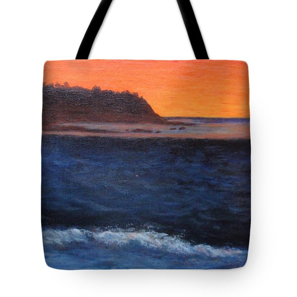 Tote Bag featuring the painting Palos Verdes Sunset by Jamie Frier