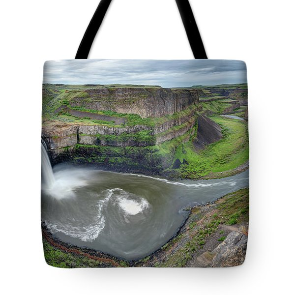 Palouse Falls In The Spring Tote Bag