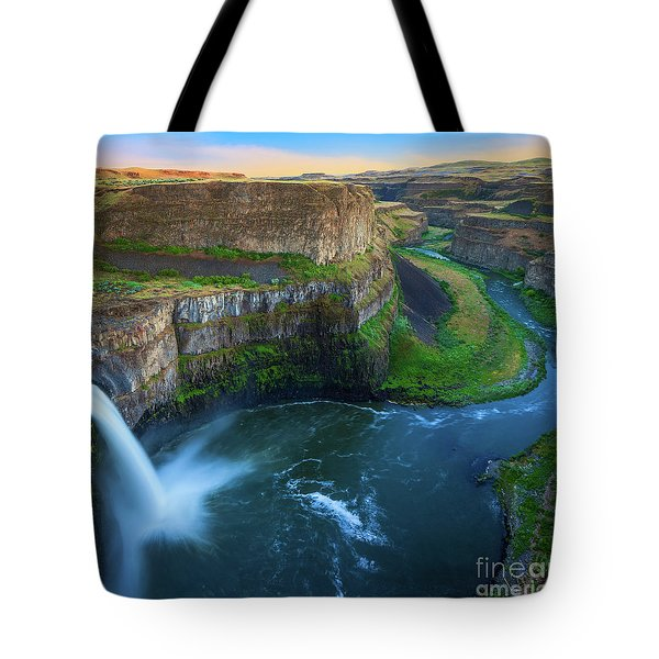 Palouse Falls Pool Tote Bag by Inge Johnsson