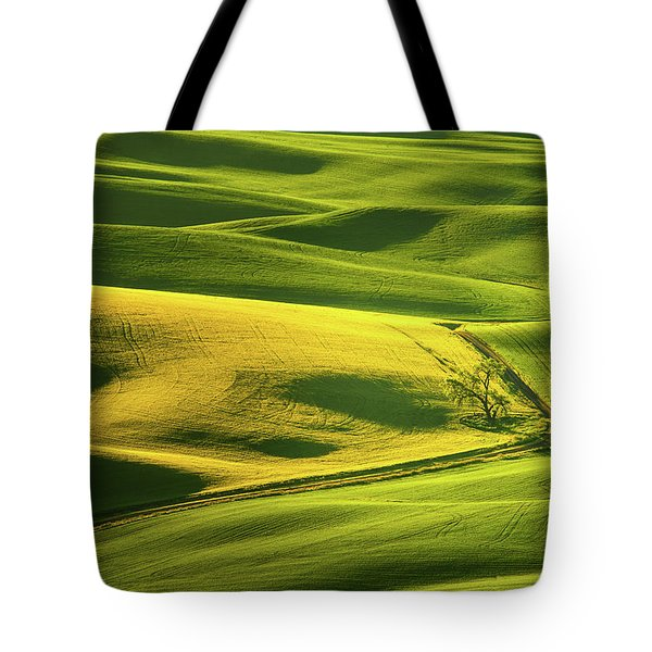 Palouse Shades Of Green Tote Bag