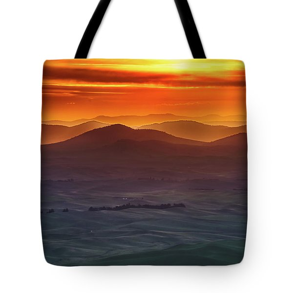Palouse Sunrise  Tote Bag by Ronald Spencer