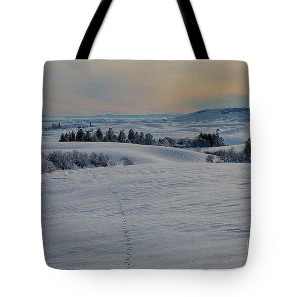 Palouse Tracks Tote Bag by Idaho Scenic Images Linda Lantzy